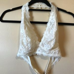 Free People Ivory Bralette Small